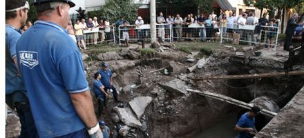 Repararon el caño dañado pero el servicio de agua retornará lentamente