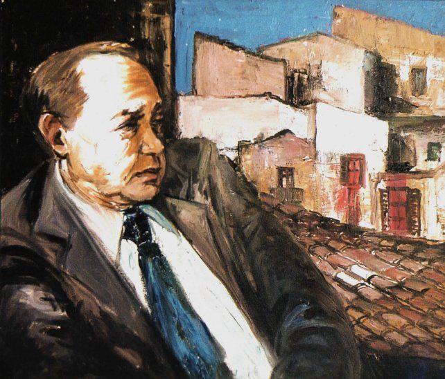 Leonardo Sciascia (1921-89) retratado por Totó Bonanno en 1986.