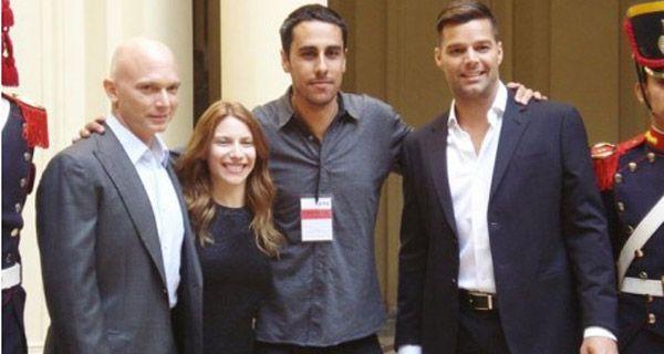 Ricky Martin fue a sacarse fotos a la Casa Rosada para el musical que protagonizará en Broadway