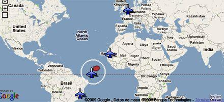 Prosigue la búsqueda del avión francés desaparecido en el Atlántico
