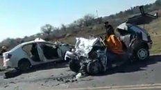 Tres personas fallecieron en un accidente entre dos autos en la ruta A-012