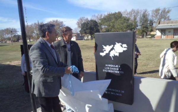 A meses. La obra de homenaje a los ex combatientes se inauguró en 2012.