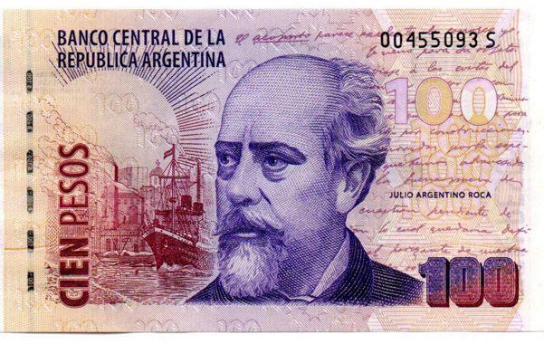 Billete de 100 pesos. La Casa de Moneda desmintió ayer una nota publicada por el diario Clarín.