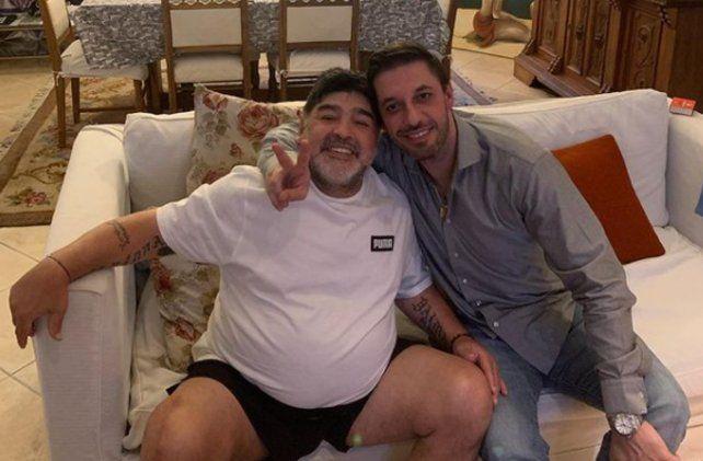 Morla publicó un inédito video de Maradona para recordarlo