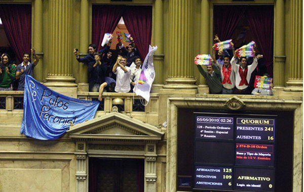 La ley de matrimonio igualitario fue promulgada en el Congreso el 15 de julio de 2010.