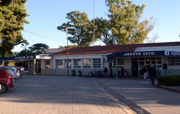 El hospital de Arroyo Seco donde fue internada la mujer.