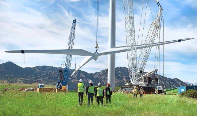 El parque eólico Manantiales Behr de YPF ocupa unas 2.000 hectáreas de un campo petrolero en la provincia de Chubut.