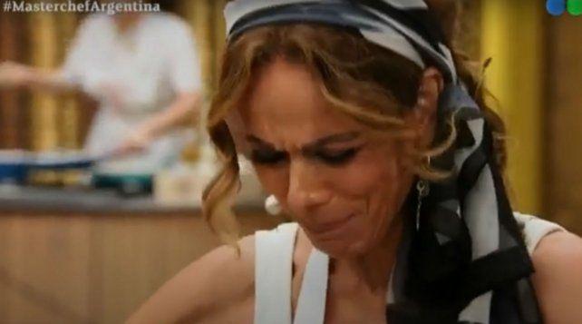 Iliana Calabró se largó a llorar mientras estaba preparando su plato.