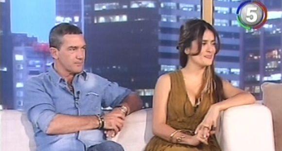 Antonio Banderas y Salma Hayek se sentaron en el living de Susana (video)