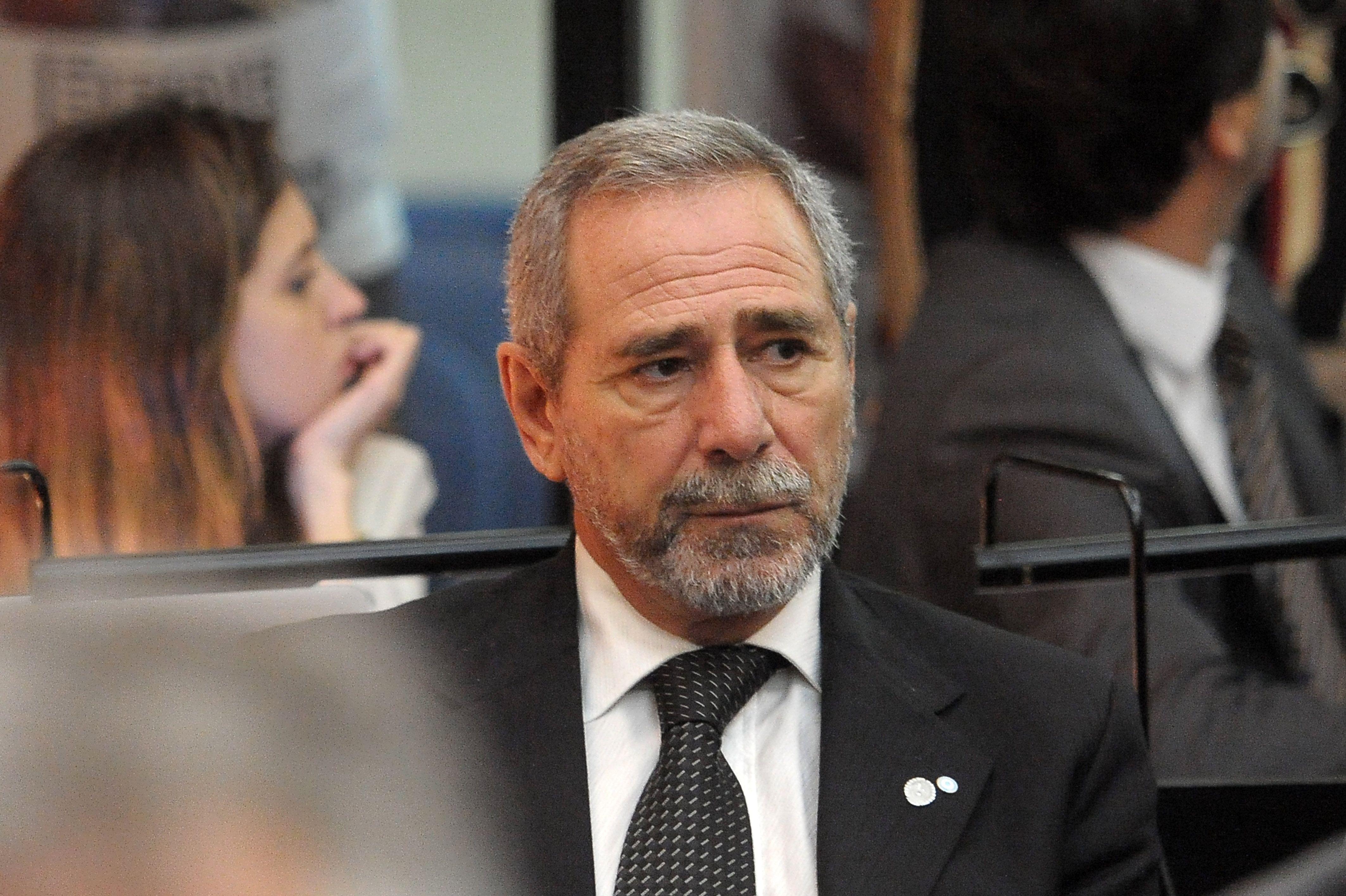 Ricardo Jaime durante una de las audiencias en el juicio por la Tragedia de Once.
