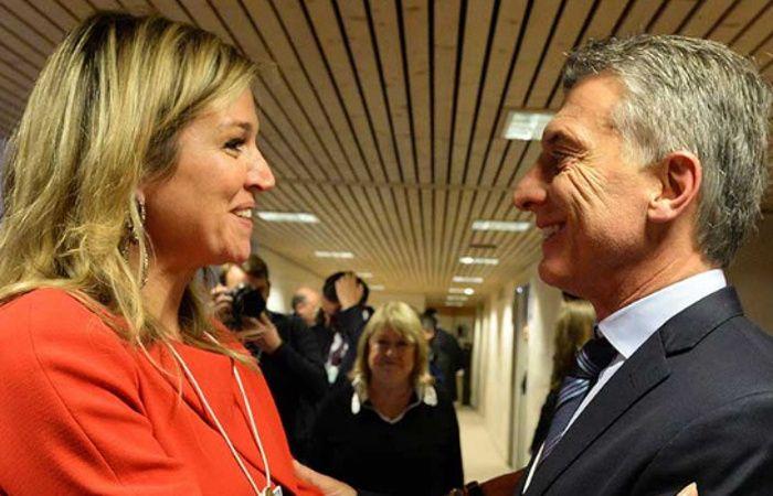 Macri y Máxima se reunieron en el marco del Foro Económico Mundial.