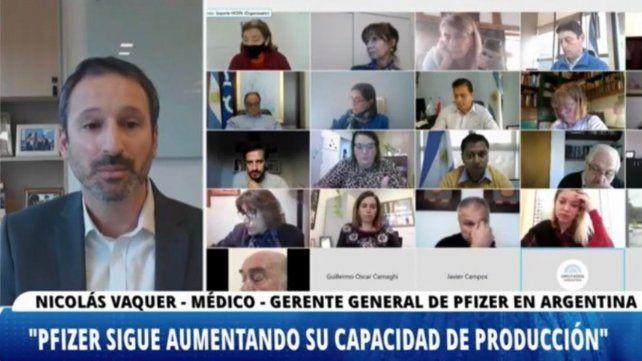 El gerente general de Pfizer en Argentina