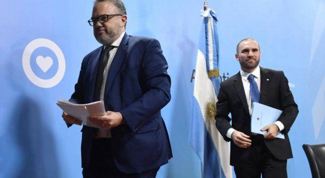 MINISTROS. Matías Kulfas (Desarrollo Productivo) y Martín Guzmán (Economía)