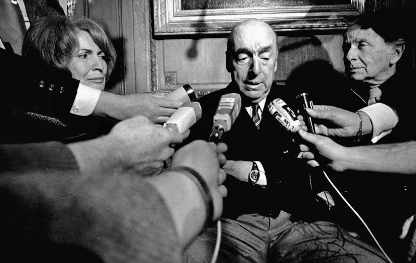 Pablo Neruda en 1971. Falleció en 1973