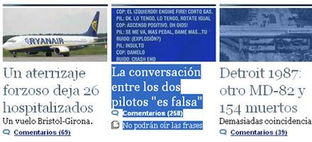 Tragedia aérea: dicen que la conversación de pilotos difundida en Argentina es falsa