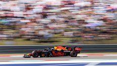 El neerlandés demostró el buen andar de su Red Bull en Estados Unidos.
