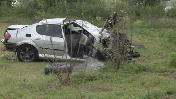 Así quedó uno de los vehículos involucrados en el accidente sobre la ruta 188. (Foto: Diario El Nuevo de Rojas)