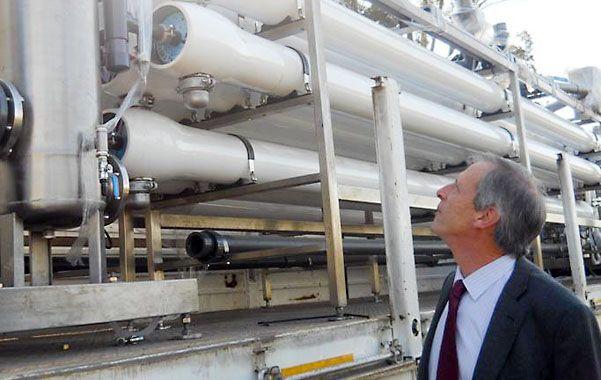 Los equipos para instalar la purificadora llegaron a Cañada de Gómez en septiembre de 2011.
