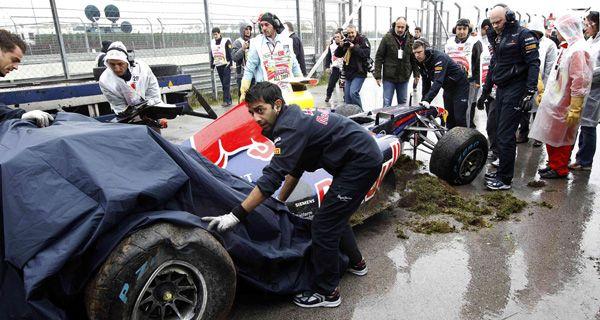 Gran Premio de Turquía: Vettel rompió el auto contra una barrera de contención, pero salió ileso