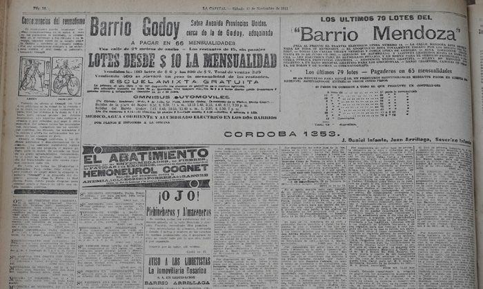 Qué pasó hace cien años según La Capital del 11 de noviembre de 1911 (fotogalería)