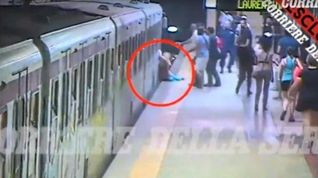 Una mujer está grave tras ser arrastrada violentamente por una formación del subte