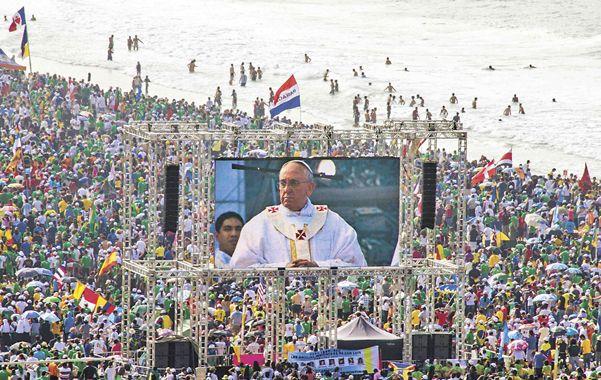 Un solo corazón. Los peregrinos coincidieron en destacar la comunicación del Papa Francisco con los jóvenes.