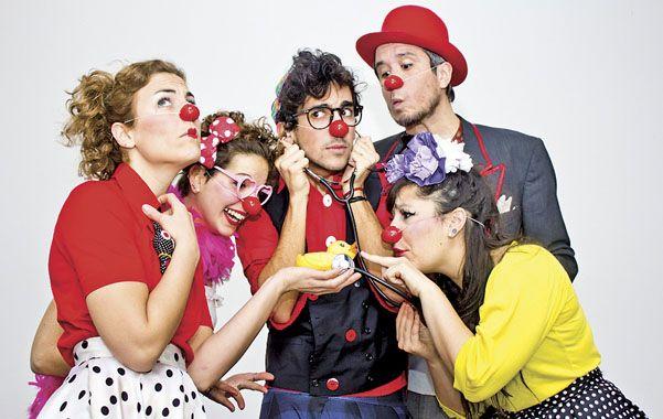 """Equipo. Entre los integrantes de """"Locura de clown"""" hay psicólogos"""
