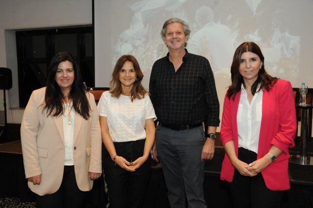 Fernanda Castellani, Soledad Ruiz de Galarreta, Augusto Saracco y Germana Figueroa Casas