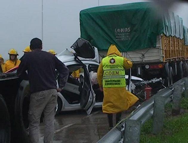 El fatal choque múltiple fue en la autopista Rosario-Córdoba a la altura del kilómetro 355