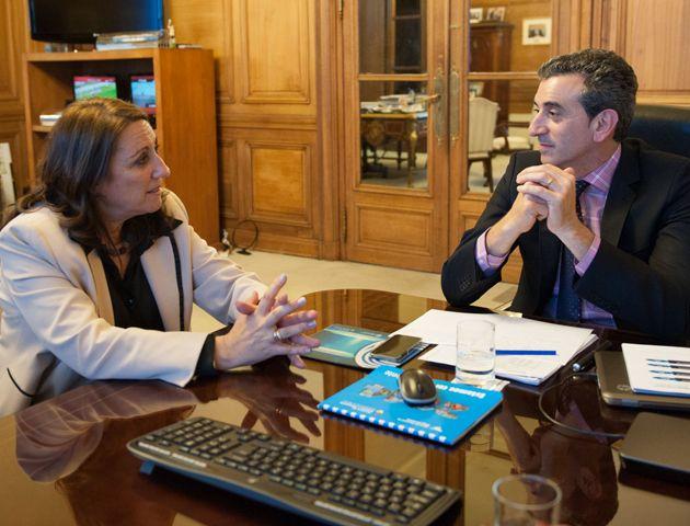 Fein y Randazzo mantuvieron un extenso diálogo en la Casa Rosada y el ministro comprometió otra visita a Rosario.