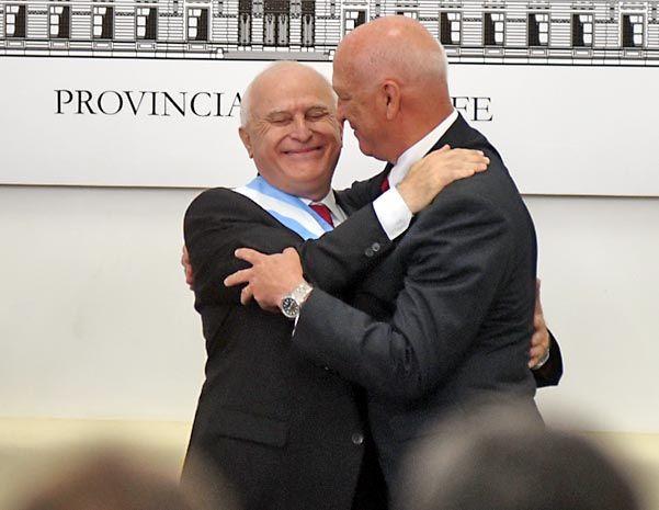 """La sucesión. Lifschitz hizo un """"reconocimiento"""" a la gestión que llevó adelante Bonfatti. También elogió a Binner."""