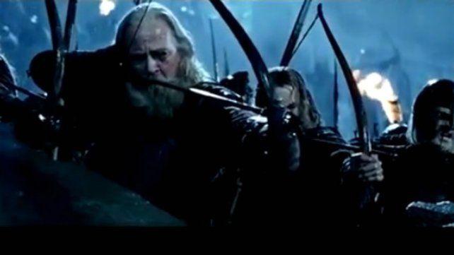 Bruce Allpress apareció en una recordada escena de Las dos torres.