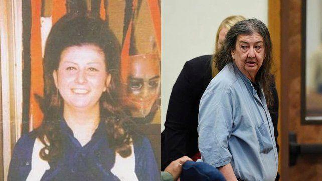 Cathy Woods en la época en que ingresó en prisión (izq.) y en la actualidad.