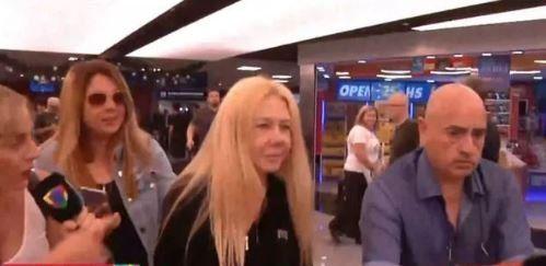 Mariana Nannis llegó a la Argentina y evitó hablar con la prensa