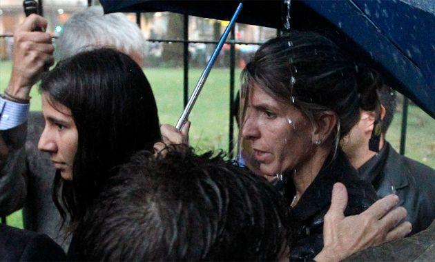 La jueza estuvo en la primera línea junto a la madre del fallecido fiscal