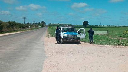 La persecución policial a quienes llevaban la cocaína fue por los campos entrerrianos.