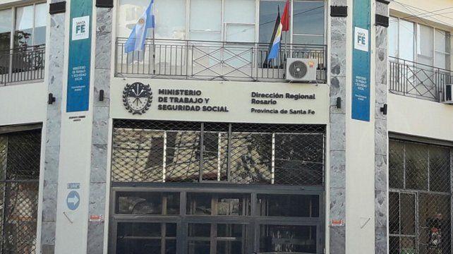 La delegación Rosario del Ministerio de Trabajo de Santa Fe.