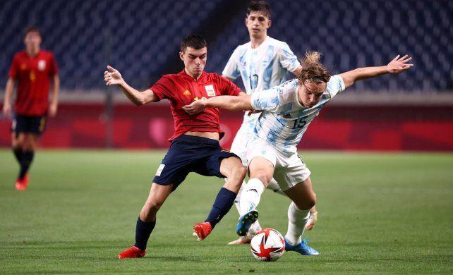 La selección nacional Sub 23 le debía ganar a España para soñar con pelear por una medalla en los Juegos Olímpicos.