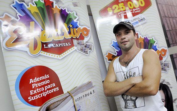 Muy feliz. Gustavo Alvarez tiene 32 años y trabaja en la empresa Cotar. (Foto: H. Río)