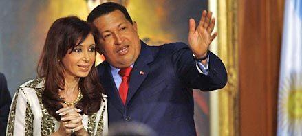Cristina y Hugo Chávez llamaron a fortalecer la integración sur-sur