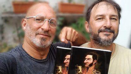 Editores. Schvartzman y Villanova con ejemplares recién salidos del horno de la obra que reúne a una veintena de estudiosos.