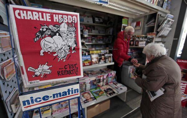 Las caricaturas de Mahoma fueron la razón del ataque de enero contra las oficinas en París del semanario.