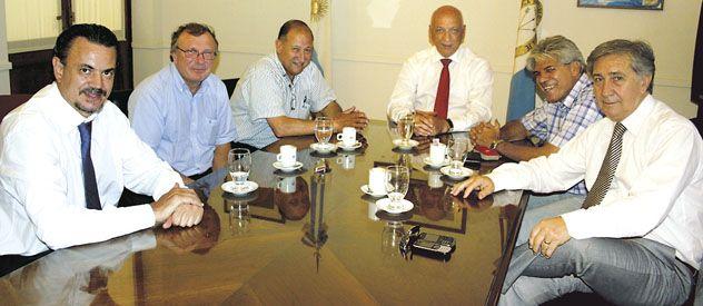 Cónclave. Bonfatti y Galassi se reunieron con senadores del PJ para consensuar obras de infraestructura en Santa Fe.