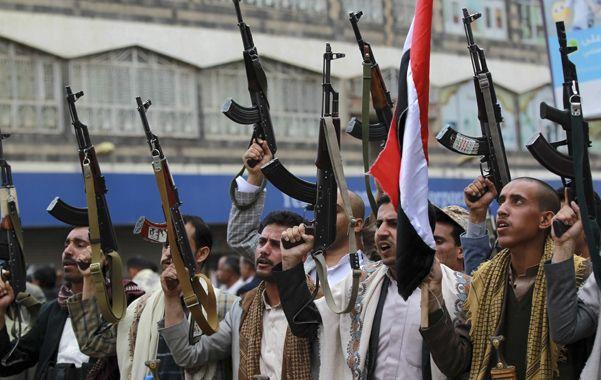 Desafiantes. Los shiítas que combaten al gobierno yemení de Abd-Rabbu Mansoura Hadi juraron vengar el ataque.