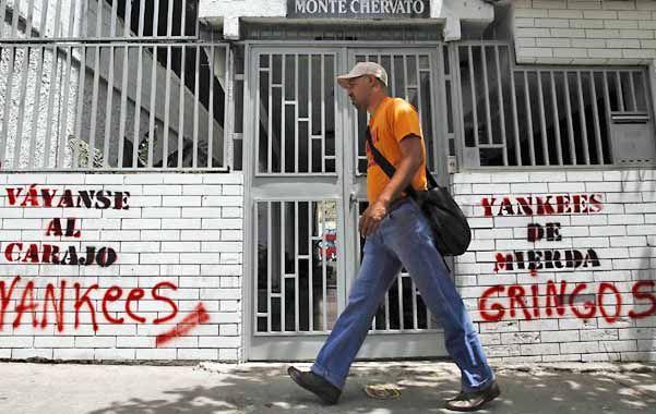 Pintadas antiestadounidenses. Obama declaró el lunes a Venezuela como una amenaza a la seguridad del país.