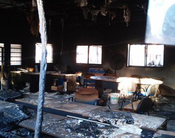 Así quedó el NAC de Baigorria tras el incendio. (Foto: S. Suárez Meccia)