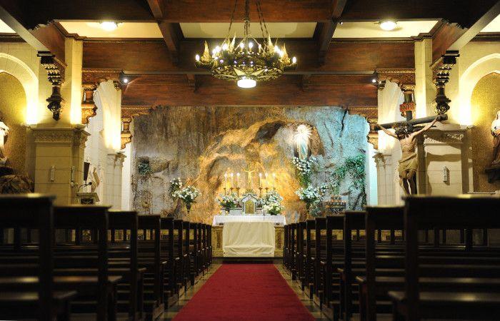 La cripta de la iglesia es visitada por numerosos fieles de Rosario y turistas que no son de la ciudad. (foto: Virginia Benedetto)