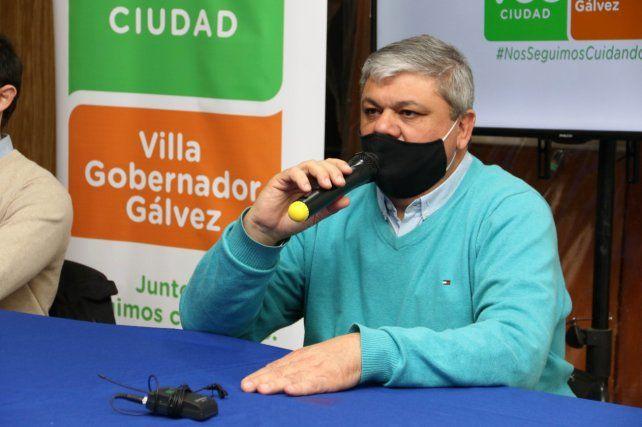 Alberto Ricci. Intendente de Villa Gobernador Gálvez.