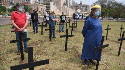 Trabajadores de Salud en el Monumento: Naturalizamos entre 10 y 20 muertes por día
