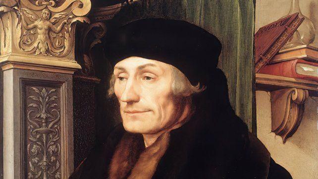 Erasmo de Rotterdam por Hans Holbein